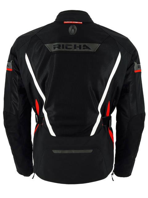 017385e22902 Richa Scirocco 3 rétegű motoros kabát (fekete piros betéttel ...